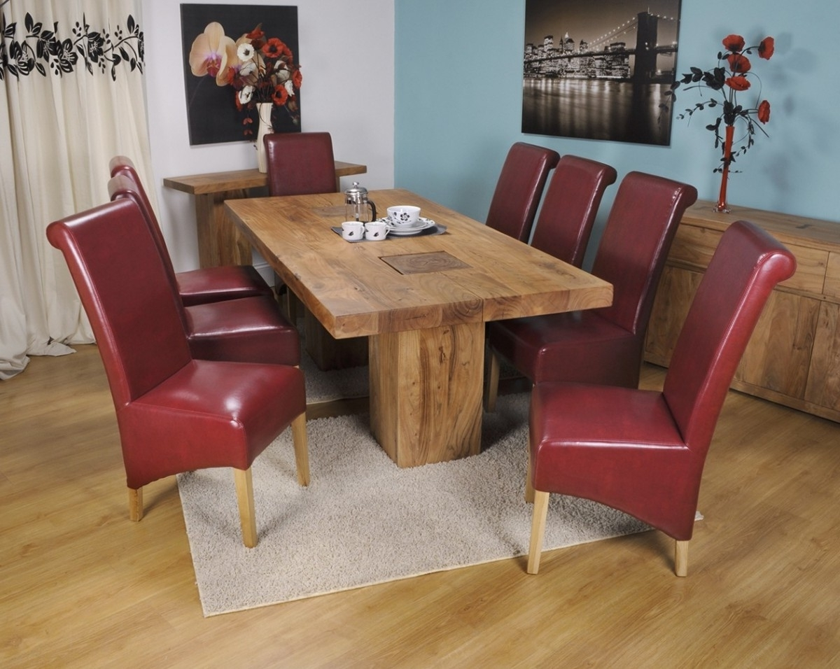 Red Leather Dining Chairs For Dining Room Design Family Ikea Dining With Regard To Widely Used Red Dining Tables And Chairs (View 22 of 25)