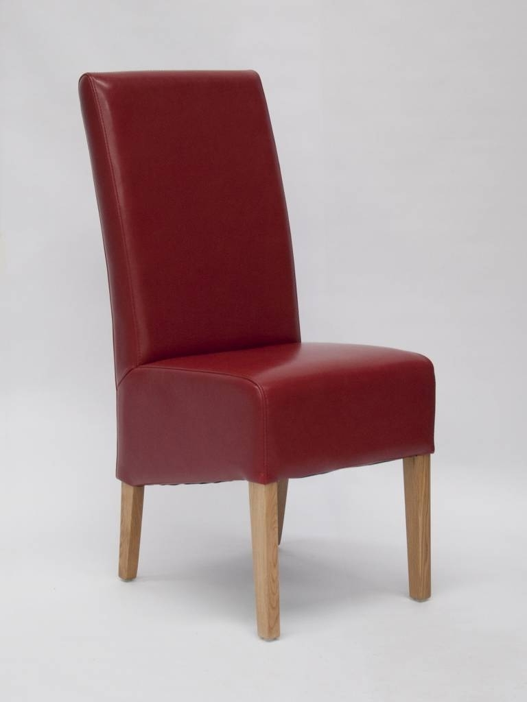 Red Leather Dining Chairs For Popular Oslo Red Leather Dining Chair – Freitaslaf Net Ltd – Freitaslaf Net Ltd (View 4 of 25)