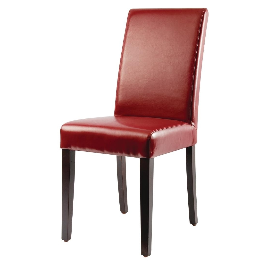 Red Leather Dining Chairs Regarding Trendy Bolero Faux Leather Dining Chairs Red (Pack Of 2) – Gh443 – Buy (View 8 of 25)
