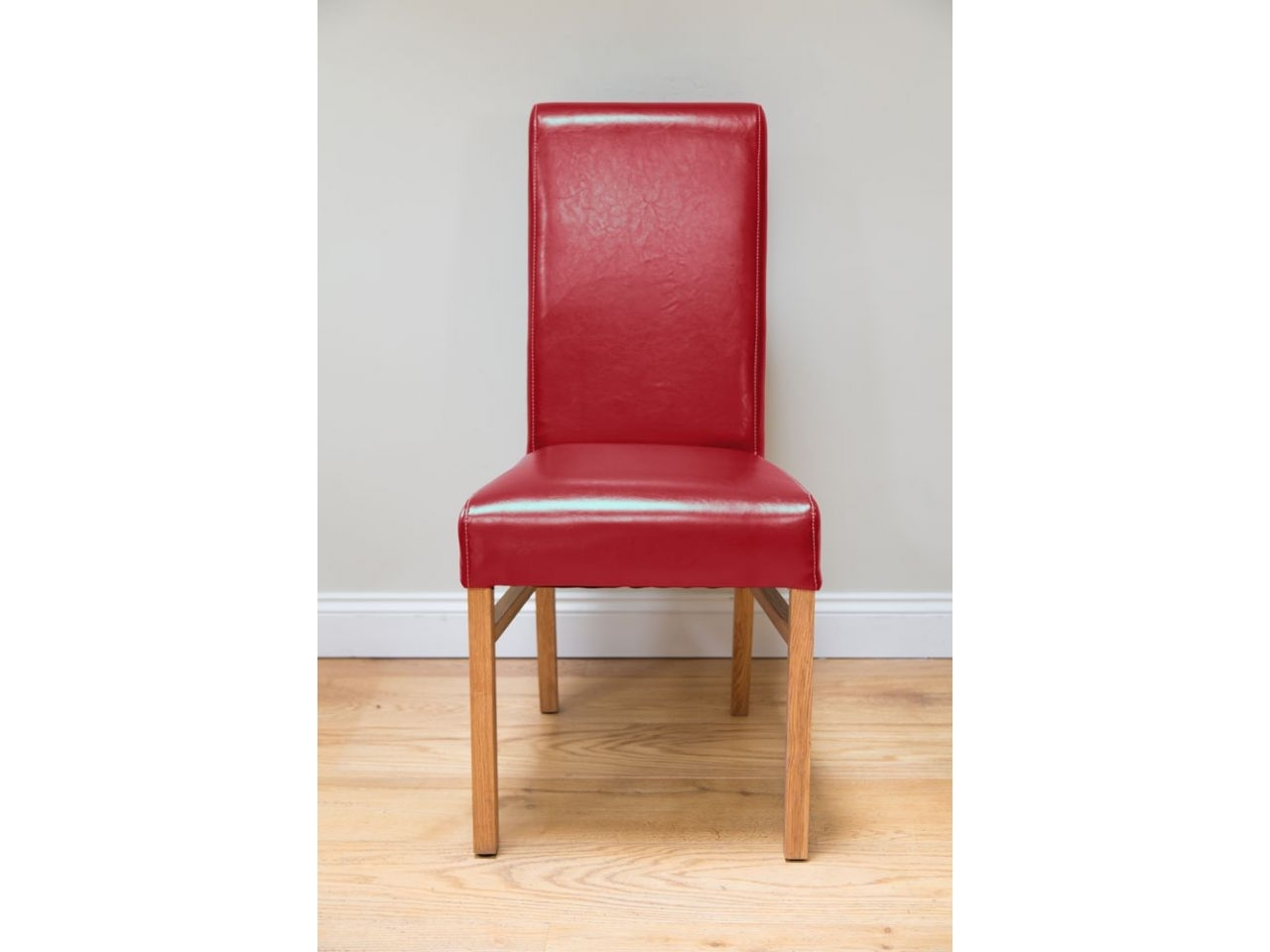 Red Leather Emperor Dining Room Chair From Top Furniture Pertaining To Well Known Red Leather Dining Chairs (View 23 of 25)