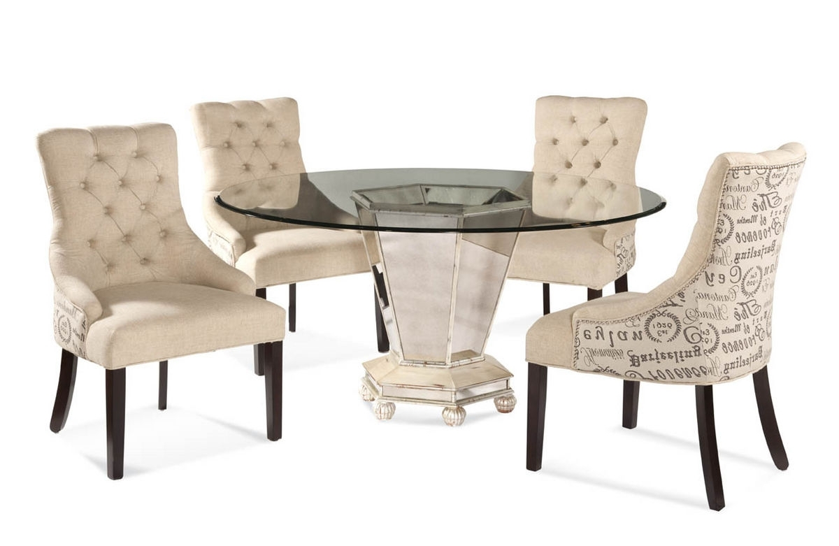 [%Reflections Dining Set With Script Fabric Chairs (Antique Silver & Mirror  Finish) – [D2055 000 Aac] : Decor South Throughout 2017 Fabric Dining Chairs|Fabric Dining Chairs Pertaining To Most Recent Reflections Dining Set With Script Fabric Chairs (Antique Silver & Mirror  Finish) – [D2055 000 Aac] : Decor South|Widely Used Fabric Dining Chairs With Reflections Dining Set With Script Fabric Chairs (Antique Silver & Mirror  Finish) – [D2055 000 Aac] : Decor South|Preferred Reflections Dining Set With Script Fabric Chairs (Antique Silver & Mirror  Finish) – [D2055 000 Aac] : Decor South Pertaining To Fabric Dining Chairs%] (View 13 of 25)