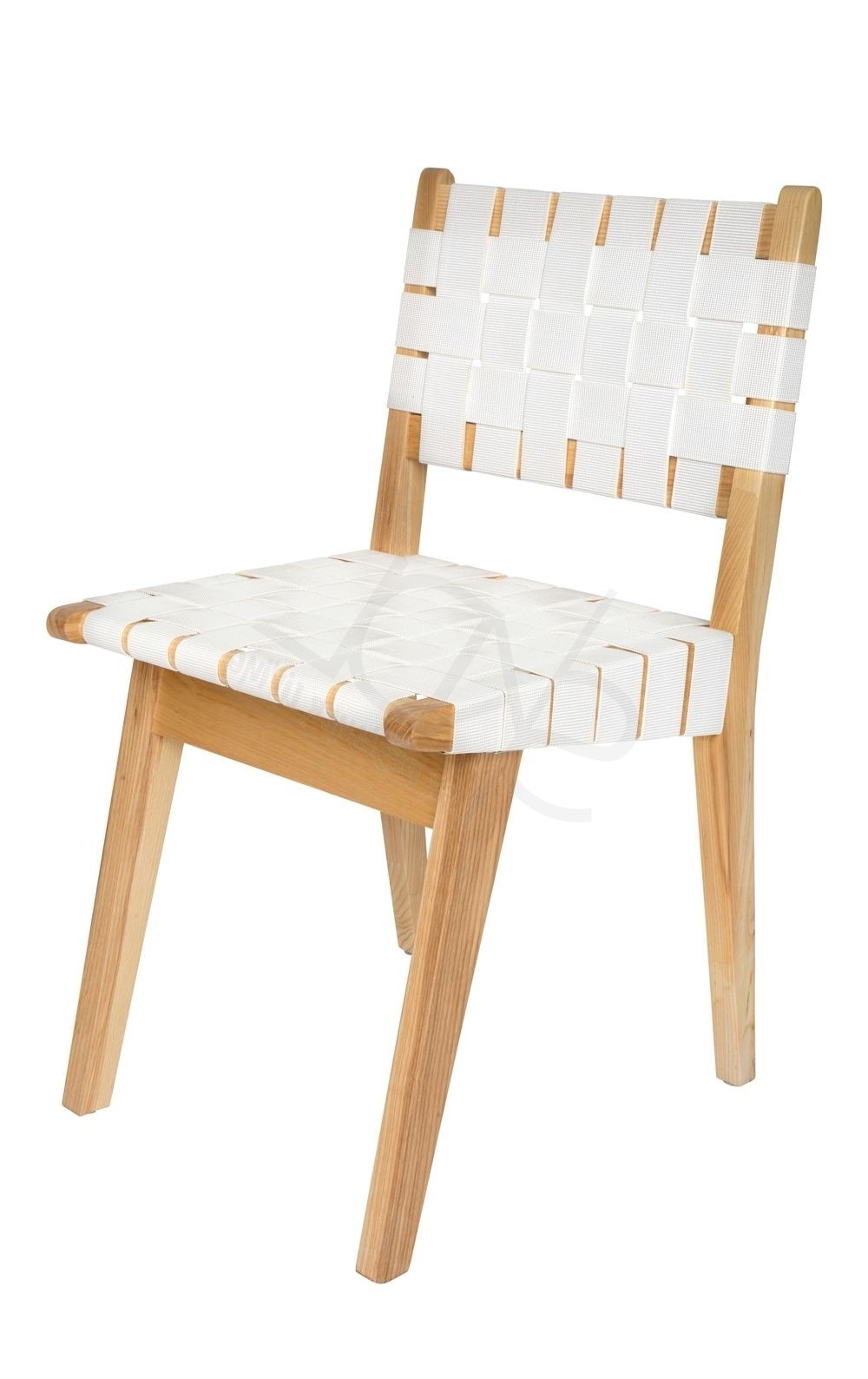 Replica Jens Risom Dining Chair Inside Widely Used Perth White Dining Chairs (View 18 of 25)