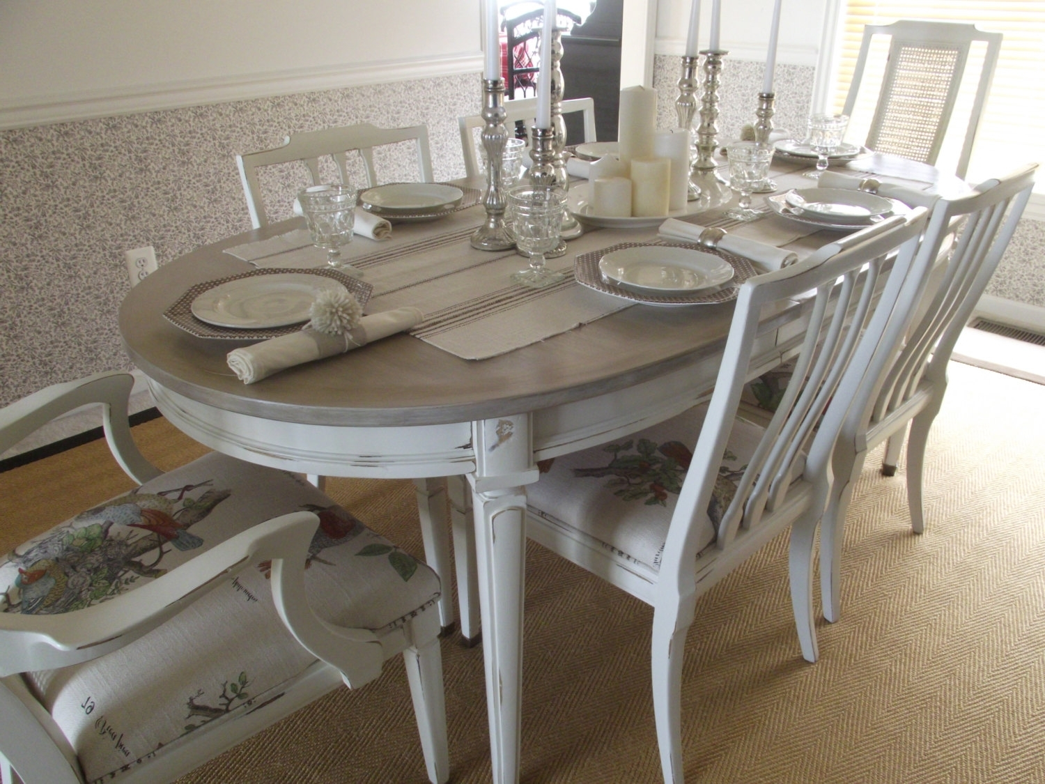 Reserved For Meera Vintage French Country Dining Table And Vintage Within 2017 Country Dining Tables (View 22 of 25)