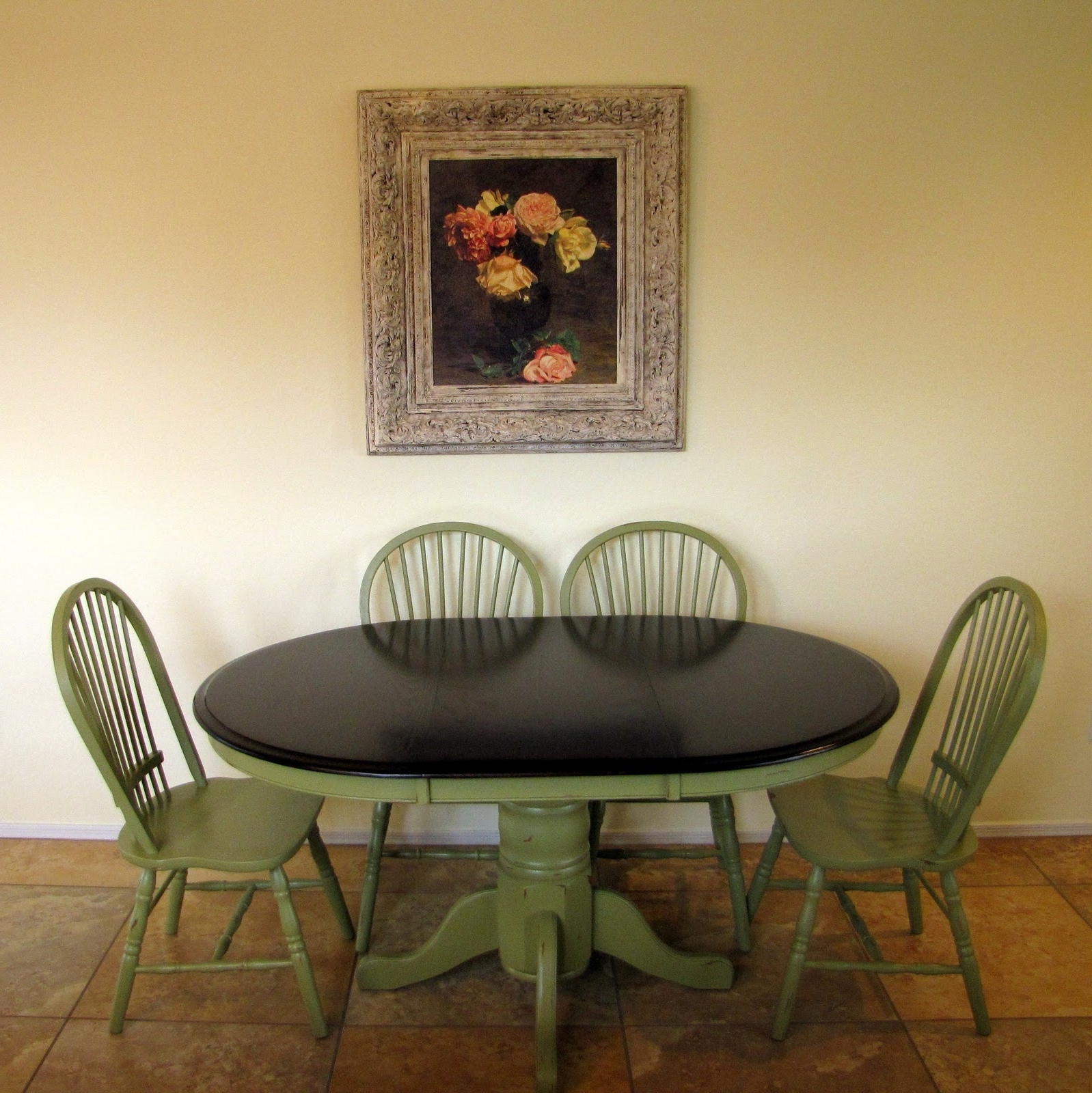 Restoration Furniture: Olive Green Dining Table Throughout Current Green Dining Tables (View 19 of 25)