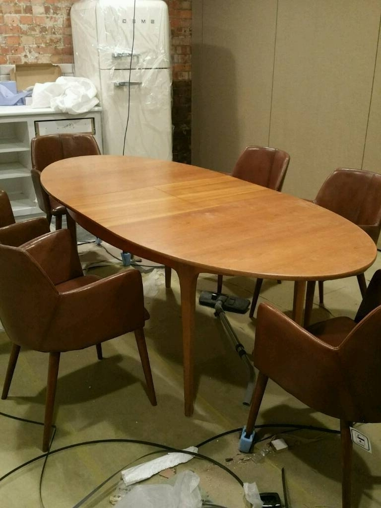 Retro 6 – 8 Seater Teak Oval Extending Dining Table S Form Sutcliffe Within Famous Retro Extending Dining Tables (View 16 of 25)