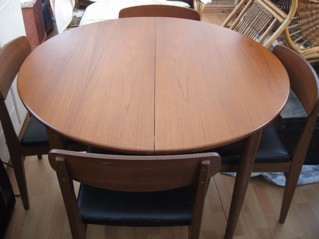 Retro Extending Dining Tables With 2017 Vintage Retro Beautility Teak Round Extendable Dining Table &  (View 19 of 25)