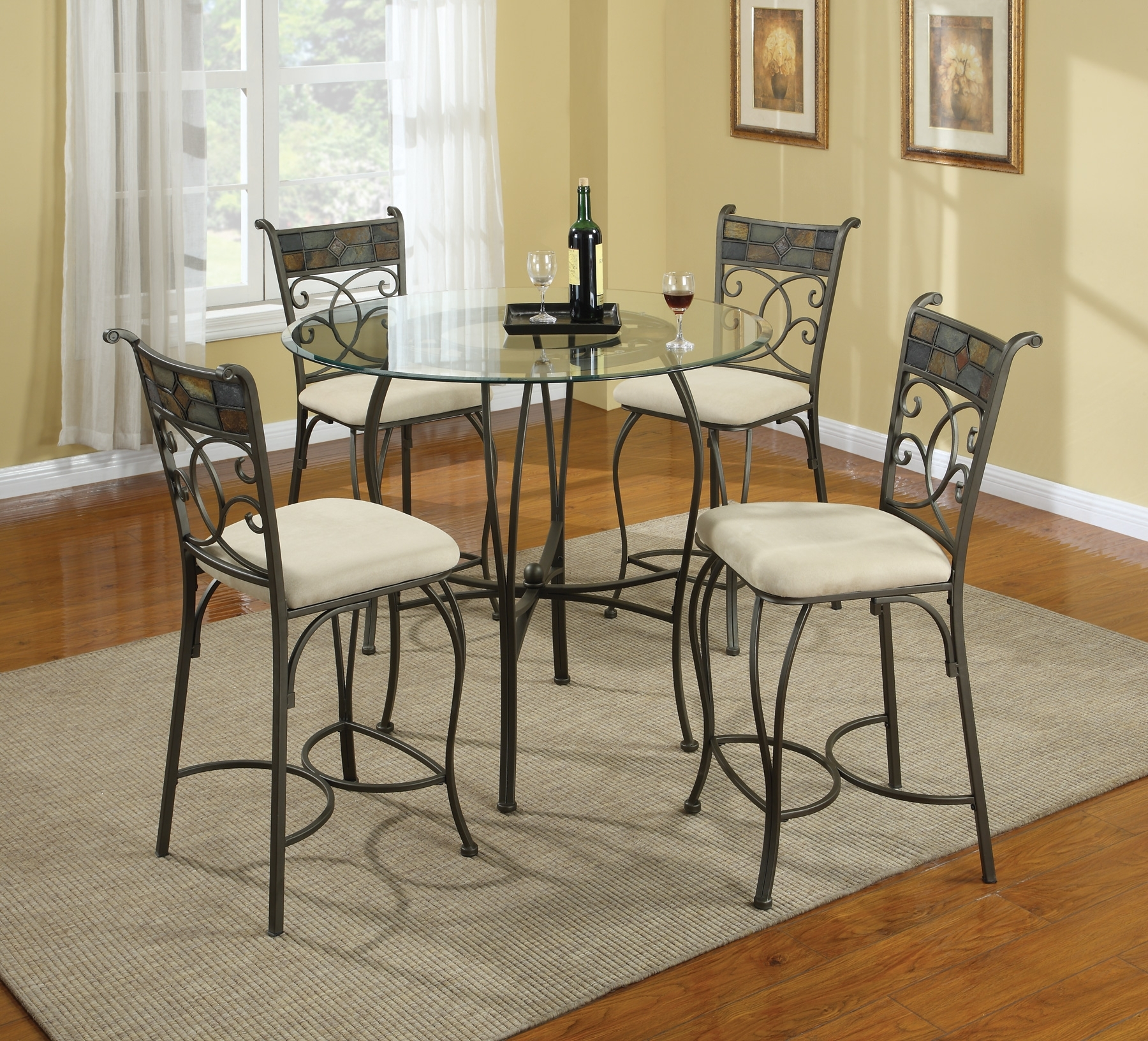 Retro Glass Dining Tables And Chairs Inside Well Known Wrought Sets Dining Room Glass Table Stunning Small Extending Chairs (View 21 of 25)