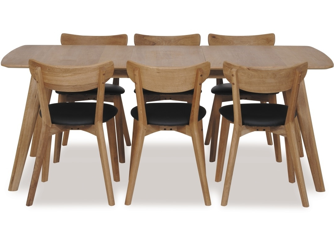 Rho 1800 Extension Dining Table & Pero Chairs X 6 Intended For Most Popular Oak Dining Tables And Chairs (View 22 of 25)