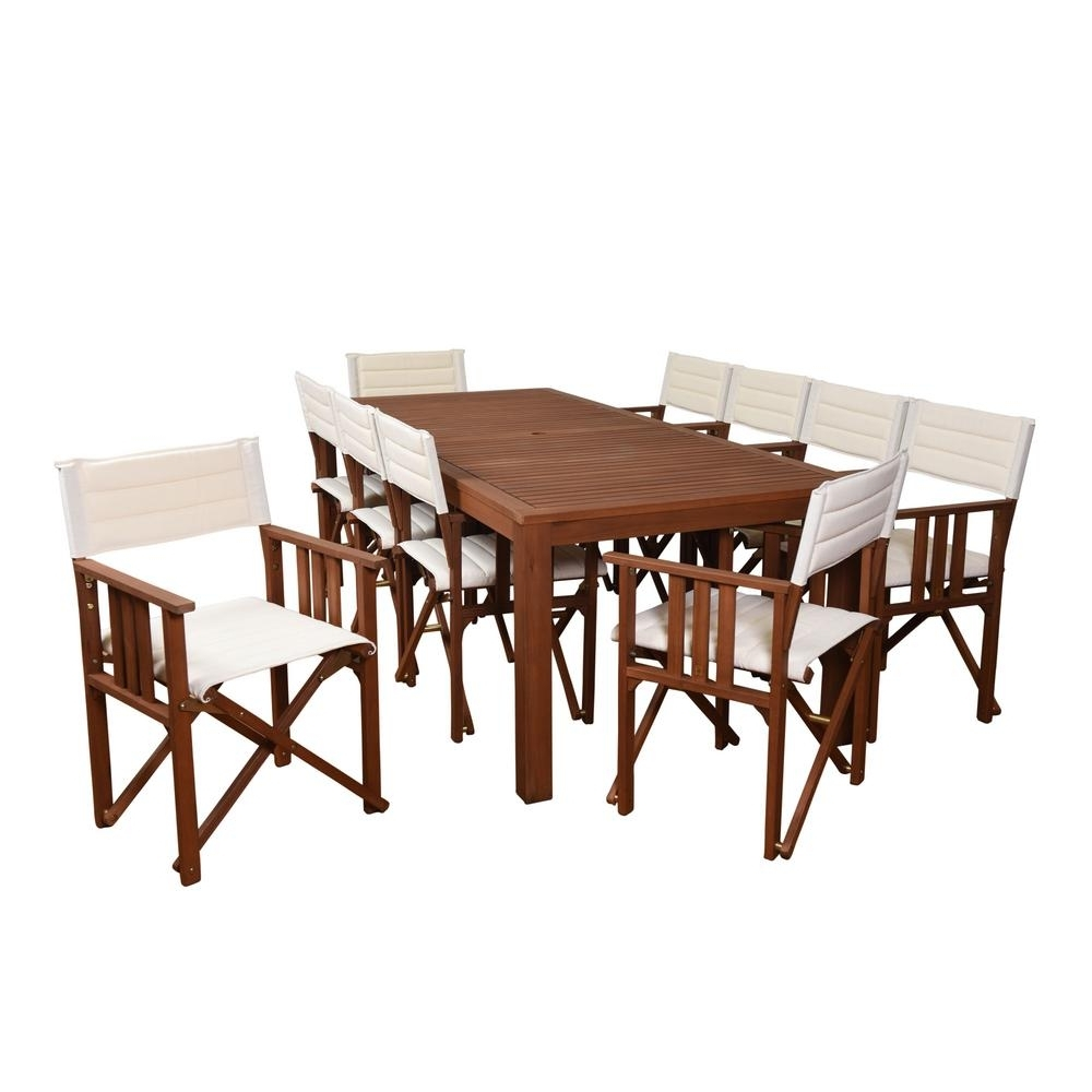 Rio Dining Tables Throughout Well Known Amazonia Rio 11 Piece Eucalyptus Rectangular Patio Dining Set With (View 6 of 25)