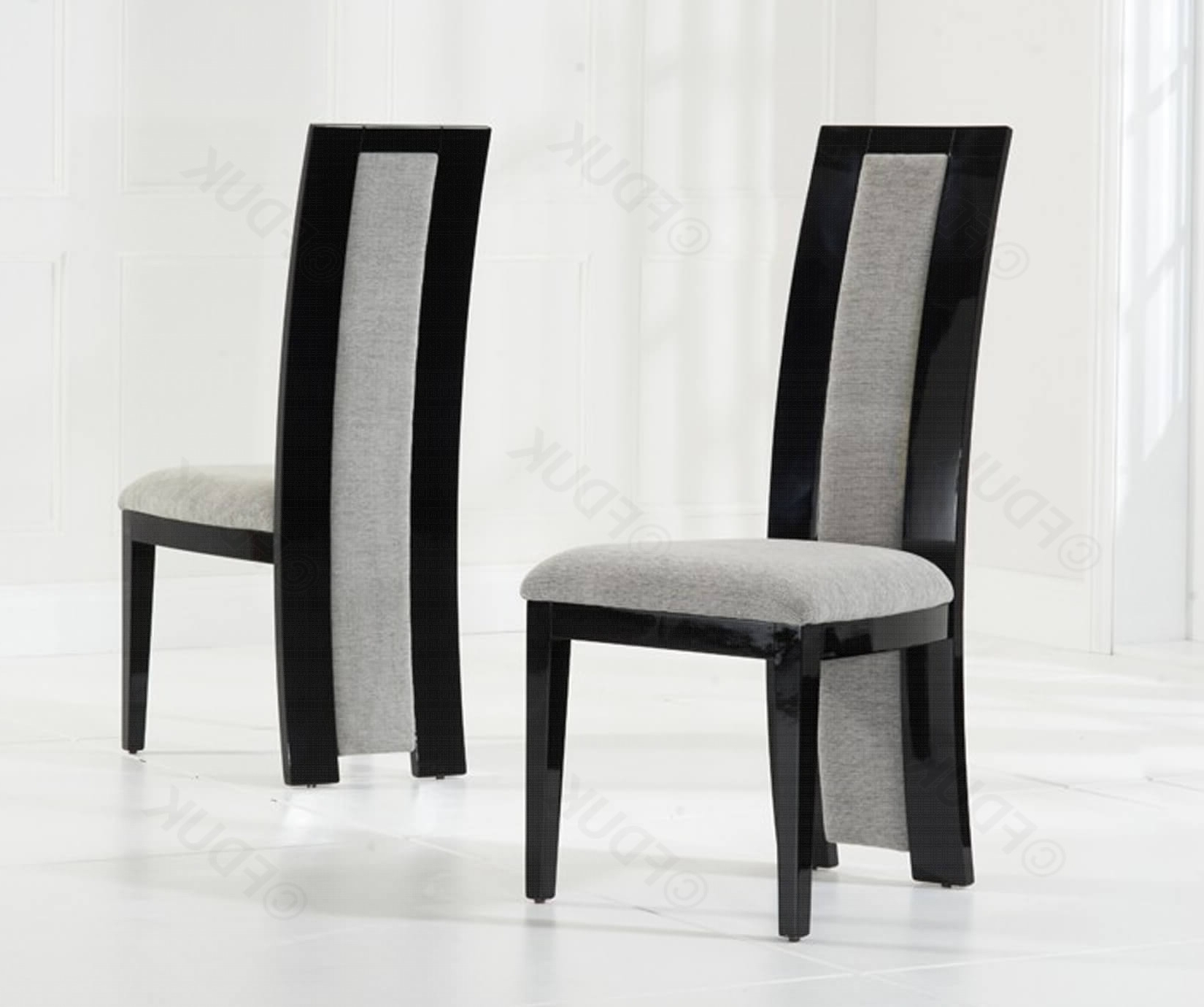 Rivilino Black High Gloss Dining Chair (Pair (View 11 of 25)