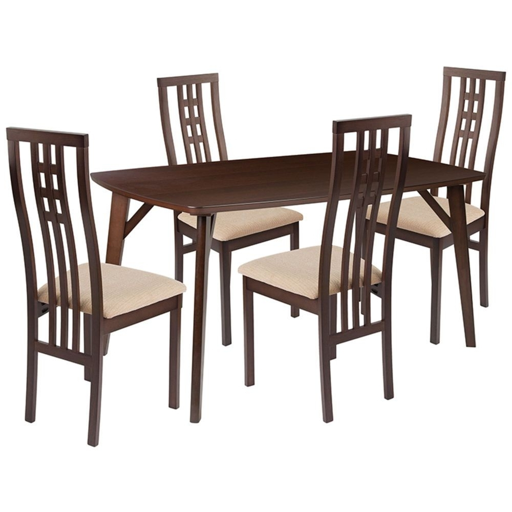 Rocco 7 Piece Extension Dining Sets For 2017 5 Piece Pulman Set Extension Table With Ladder Back Chairs (View 18 of 25)