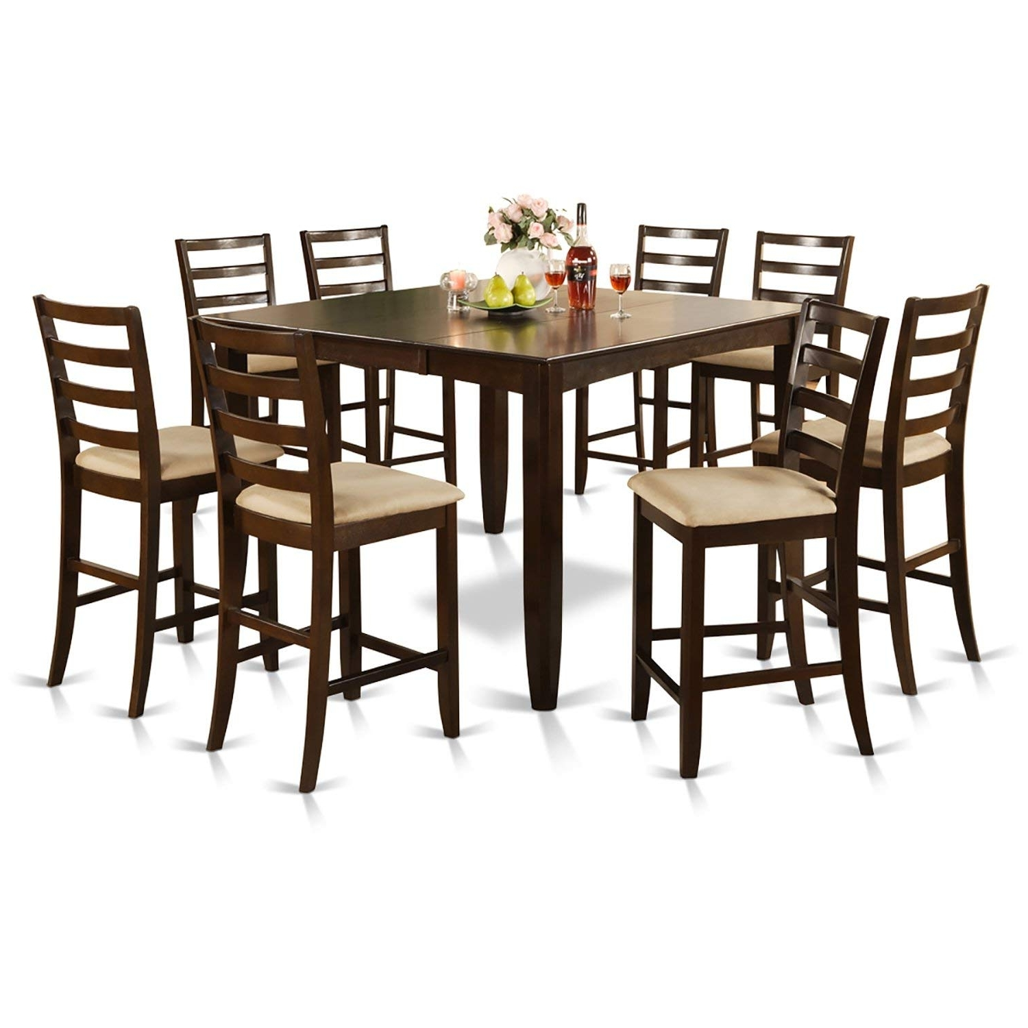Rocco 7 Piece Extension Dining Sets Throughout Fashionable Amazon: East West Furniture Fair9 Cap C 9 Piece Counter Height (View 9 of 25)