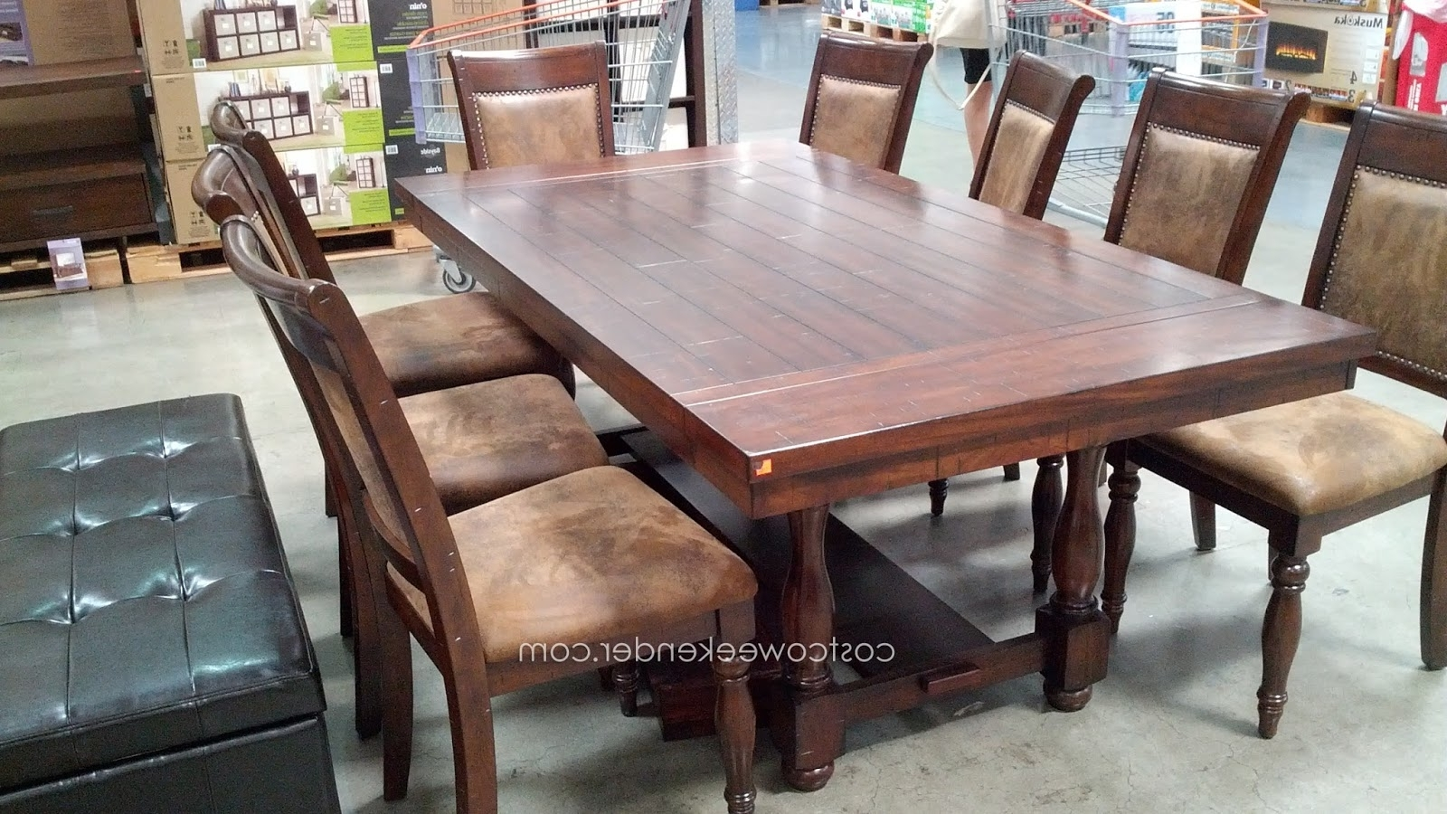Rocco 9 Piece Extension Counter Sets for Most Popular 9 Piece Dining Room Table And Chairs - Dining Tables Ideas