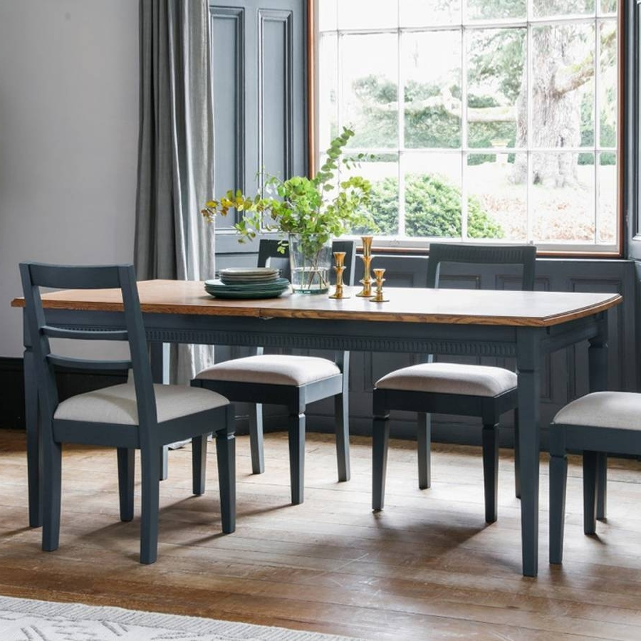 Rocco Extension Dining Tables In Current Storm Bronte Extending Dining Table – Brandalley (View 20 of 25)