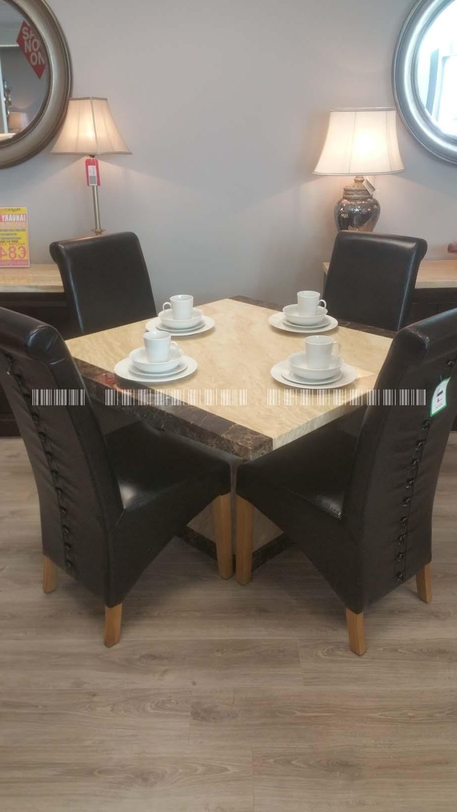 Rocco Extension Dining Tables Pertaining To 2017 Pamela Charcoal 110Cm 6 Rocco Button – Dublin, Ireland Furniture (View 21 of 25)