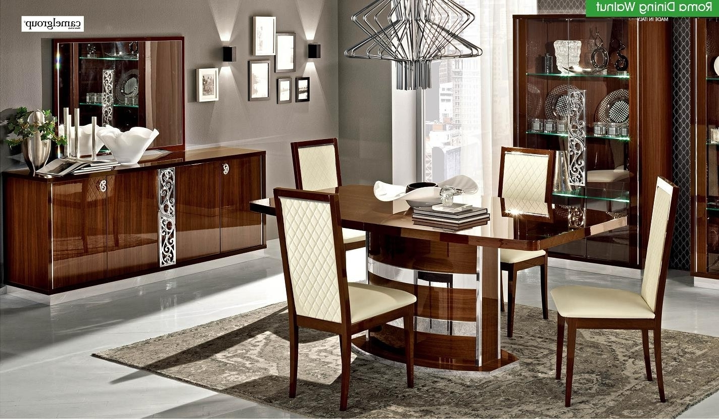 Roma Dining Room Setalf Walnut (Made In Italy), Buy From Nova With 2017 Roma Dining Tables And Chairs Sets (View 6 of 25)