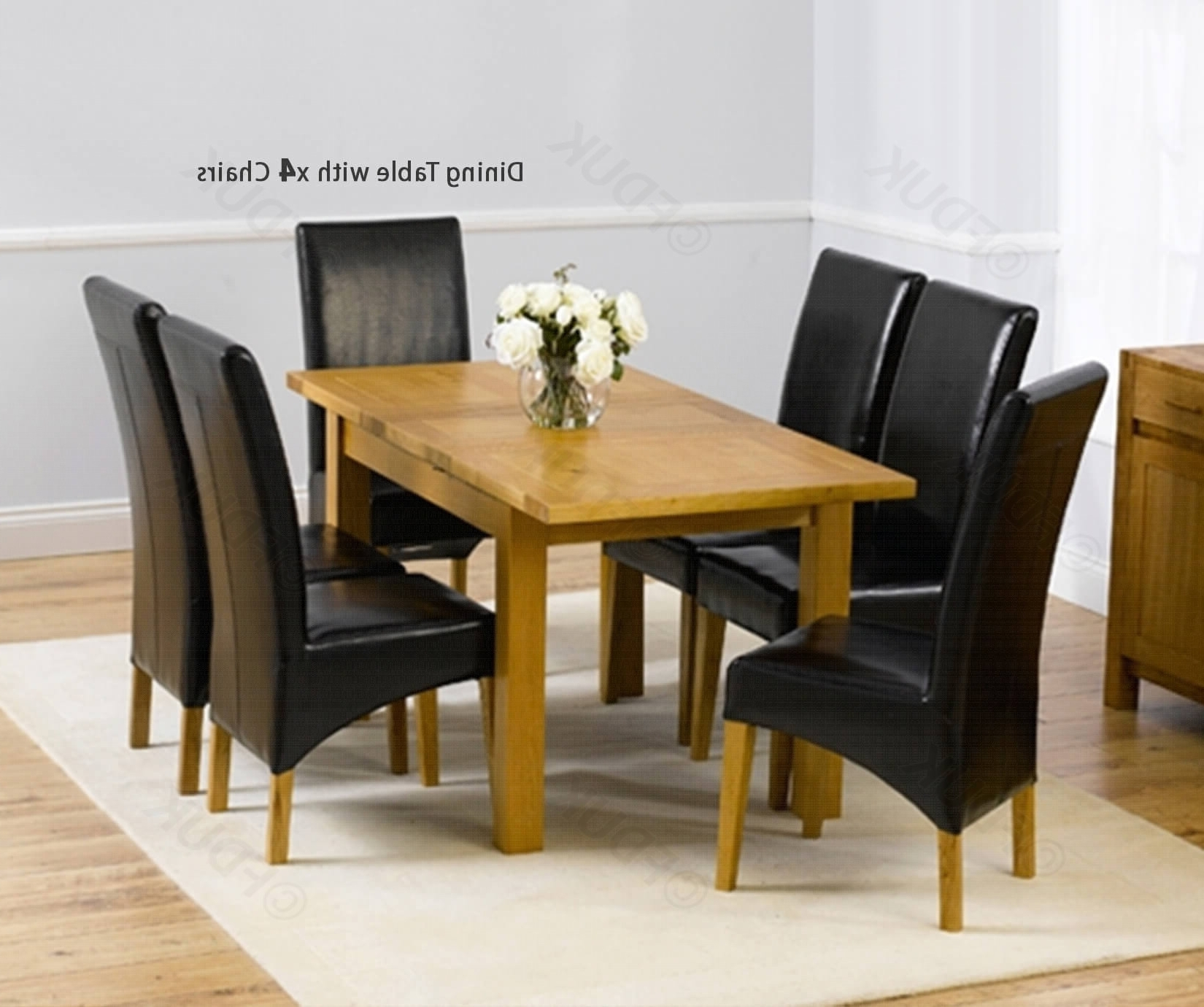 Roma Dining Tables And Chairs Sets Pertaining To Current Mark Harris Rustique Solid Oak Dining Set – 120Cm Rectangular (View 16 of 25)