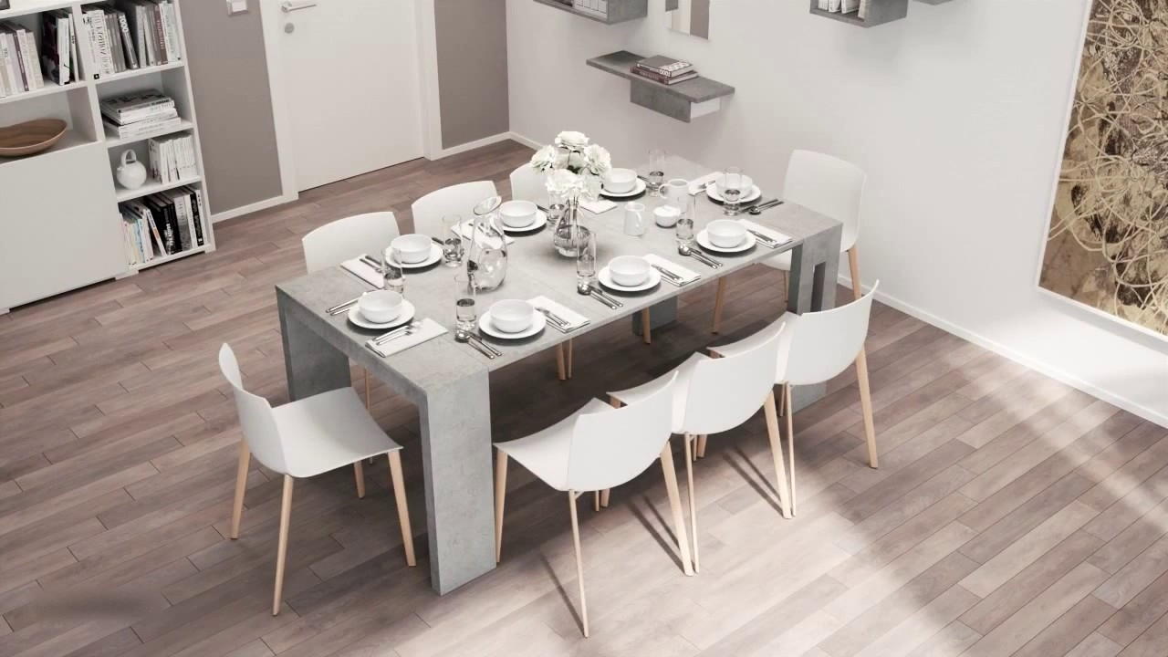 Roma Dining Tables For Most Popular Multi Functional Extendable Dining Table Roma – Youtube (View 17 of 25)