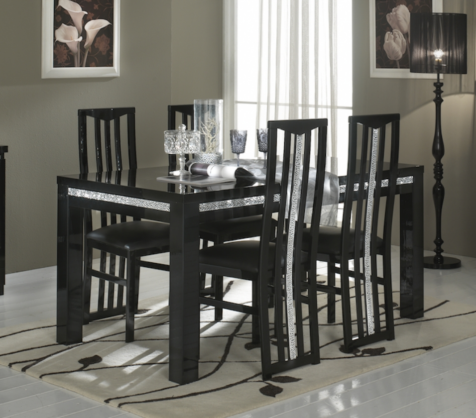 Roma Dining Tables Pertaining To Well Liked Dining Table Roma Cromo Black (View 20 of 25)