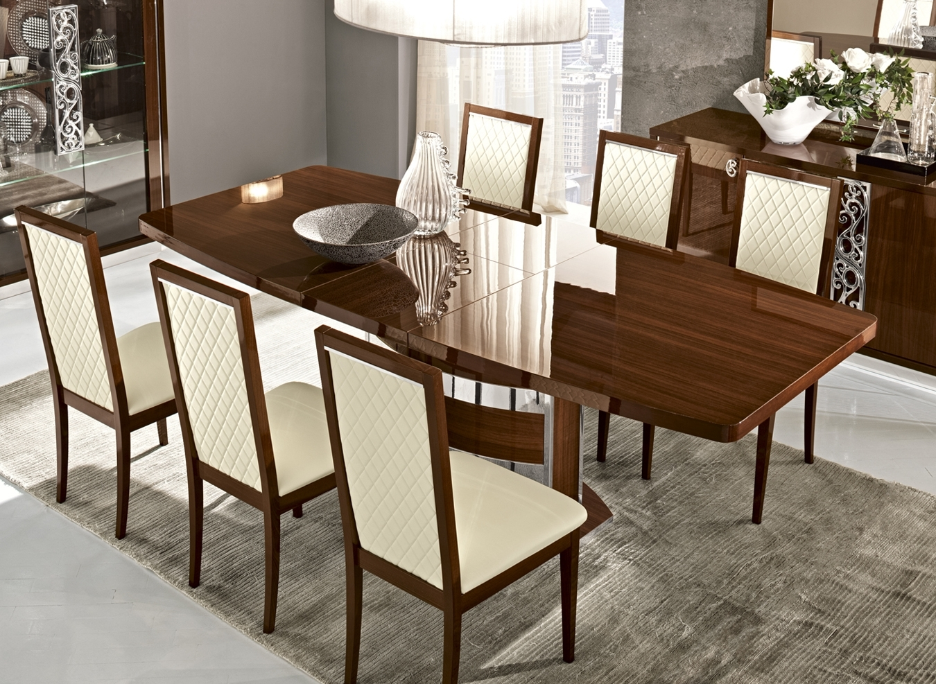 Roma Dining Walnut, Italy, Modern Casual Dining Sets, Dining Room Throughout 2017 Roma Dining Tables (View 23 of 25)