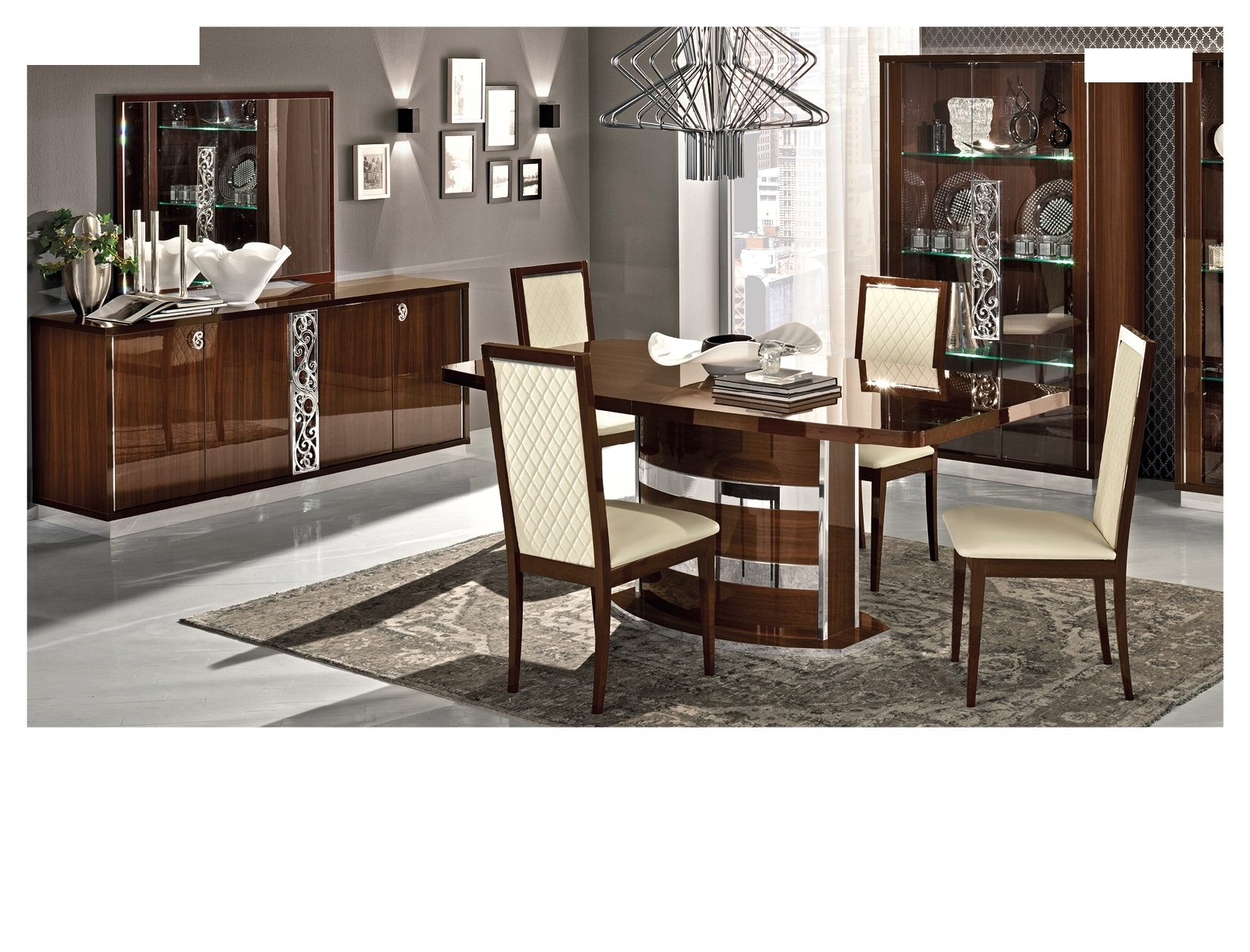 Roma Dining Walnut, Italy, Modern Formal Dining Sets, Dining Room With Regard To Current Roma Dining Tables And Chairs Sets (View 23 of 25)