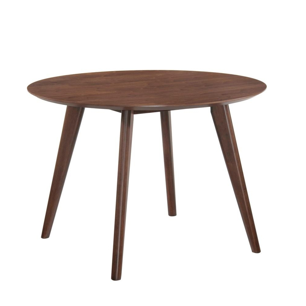 Rosie Light Walnut Dining Table Drb500Dt – The Home Depot Throughout Well Liked Walnut Dining Tables (View 19 of 25)