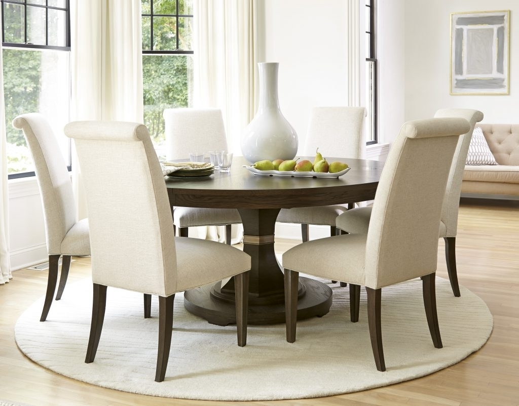 Round 6 Person Dining Tables Throughout 2018 Round Dining Room Tables For 6 – Dining Room Design (View 20 of 25)