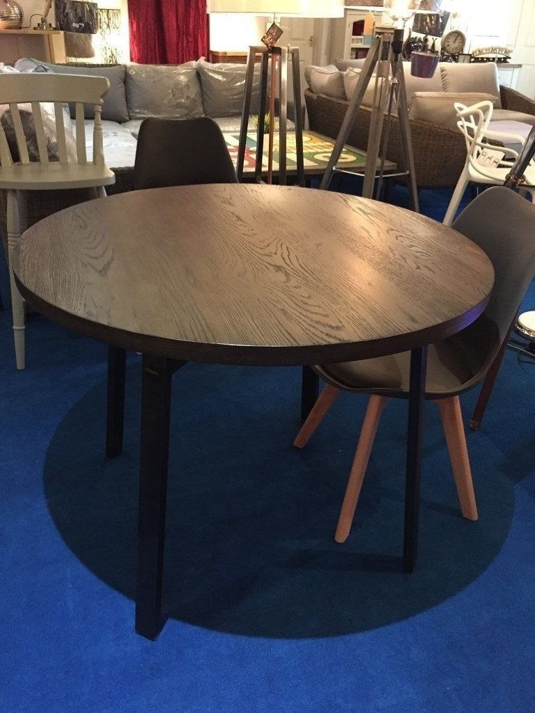 Round 6 Seater Dining Tables Throughout Newest John Lewis Calia Round 6 Seater Dining Table, Dark Rrp £ (View 5 of 25)