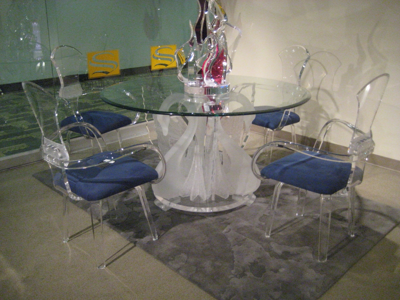 Round Acrylic Dining Tables Throughout 2018 Legend Swan Dinette, Acrylic Wall Art, Acrylic Furniture (View 20 of 25)