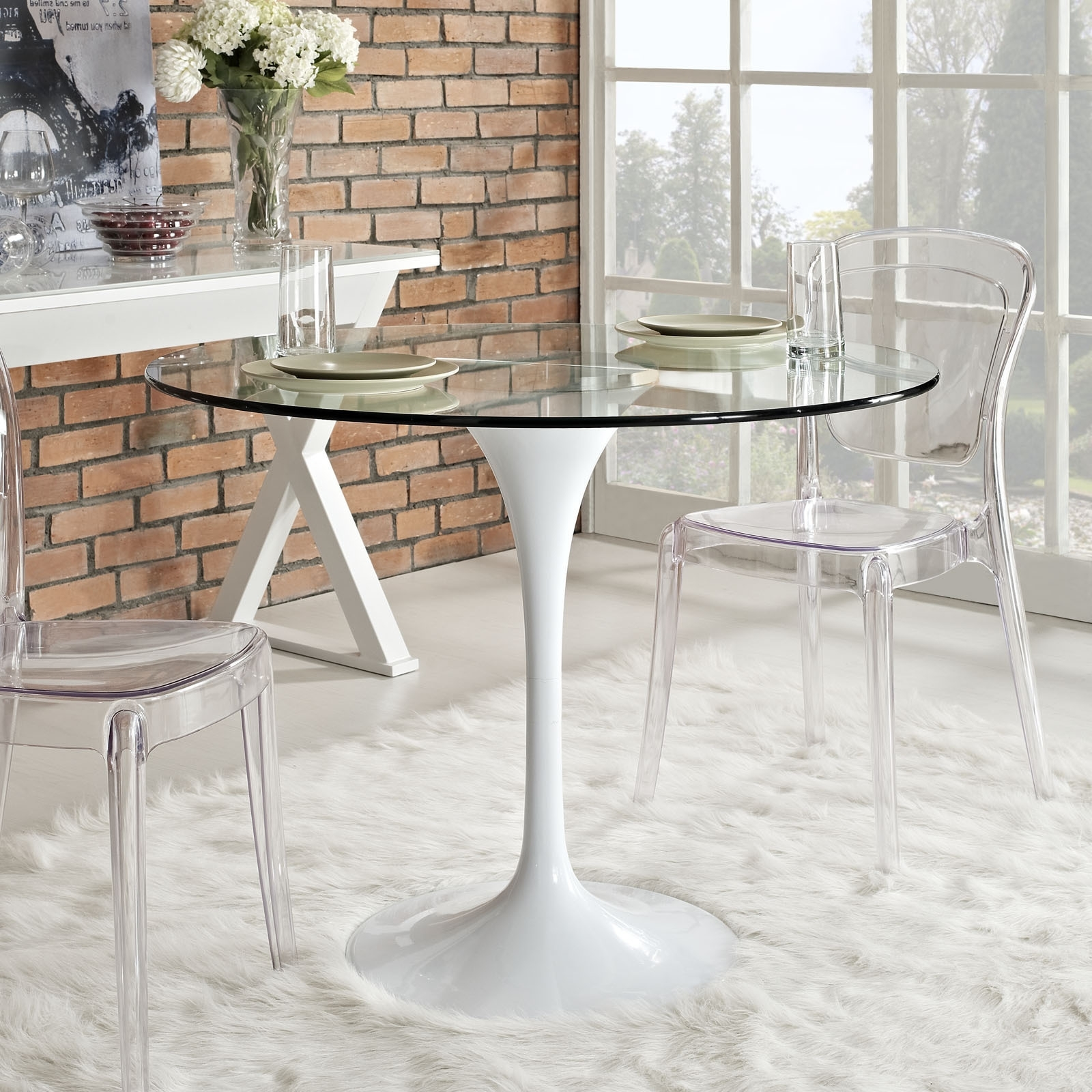 Round Acrylic Dining Tables With Regard To Latest Acrylic Kitchen Table Fresh Kitchen Cool Clear Glass Dining Table (View 3 of 25)