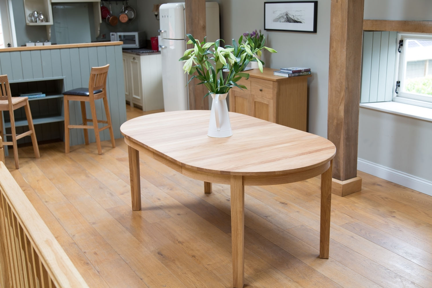 Round Baltic Premium Solid Oak Double Extending Table With Regard To Famous Round Extending Dining Tables (View 21 of 25)