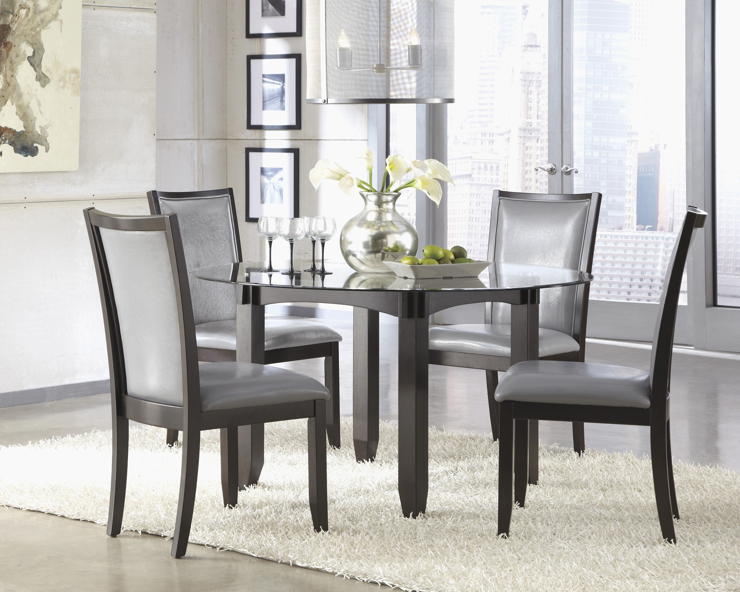 Round Black Glass Dining Tables And Chairs Intended For Best And Newest Round Black Glass Dining Table Awesome Awesome Round Glass Dining (View 18 of 25)