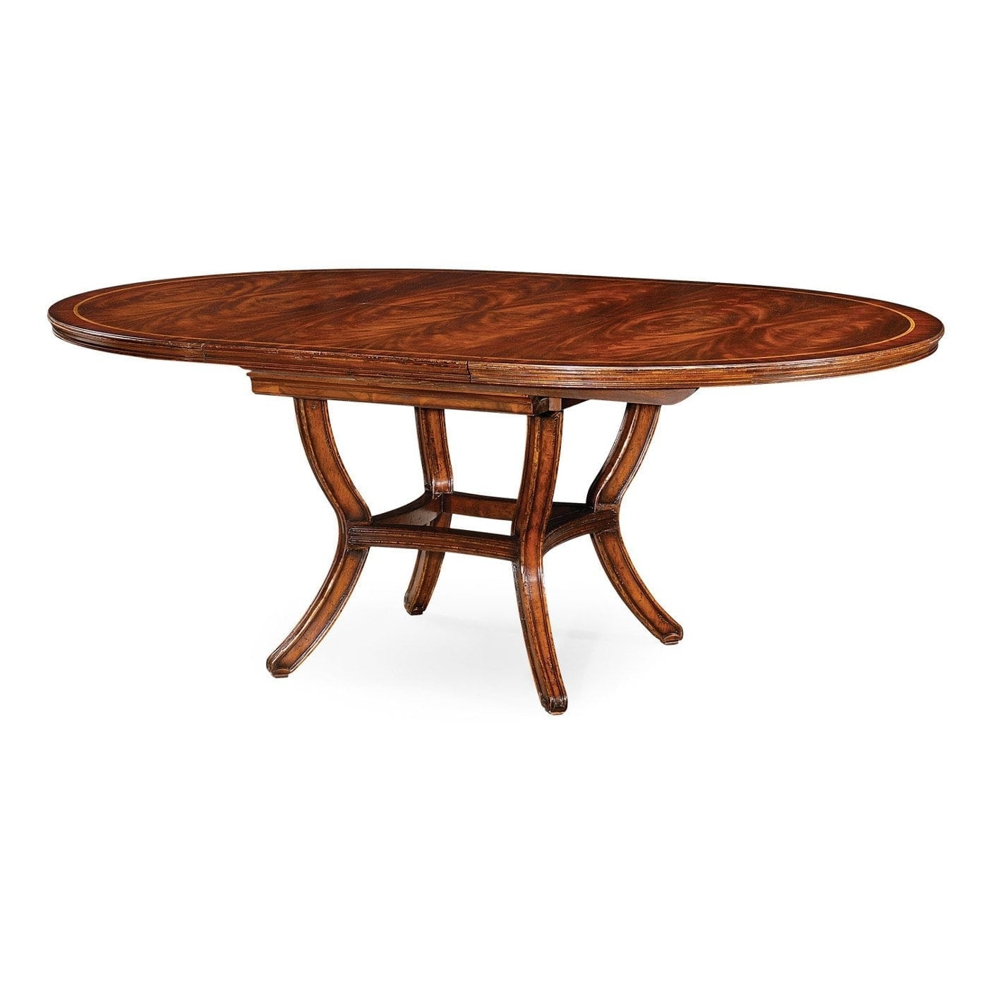 Round Dining Tables Extends To Oval For Favorite 54 Inch Round To Oval Table, Extends With Self Storing Leaf (View 16 of 25)