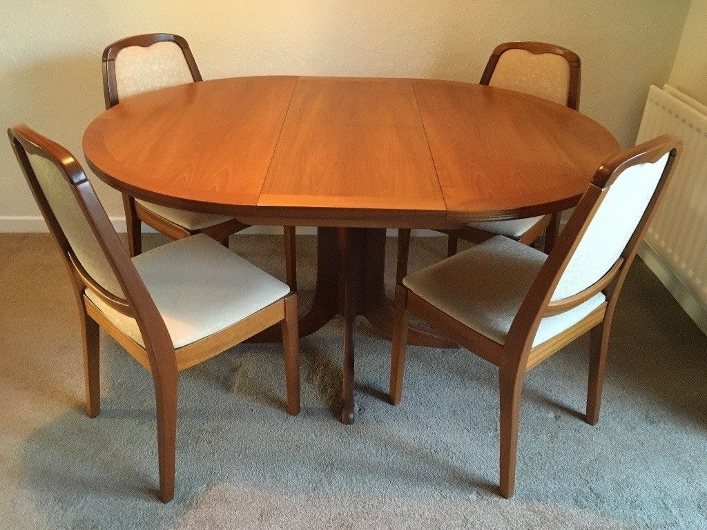 Round Extendable Dining Tables And Chairs Throughout Well Known Parker Knoll Teak Round Extendable Dining Table ***revised Price (View 2 of 25)