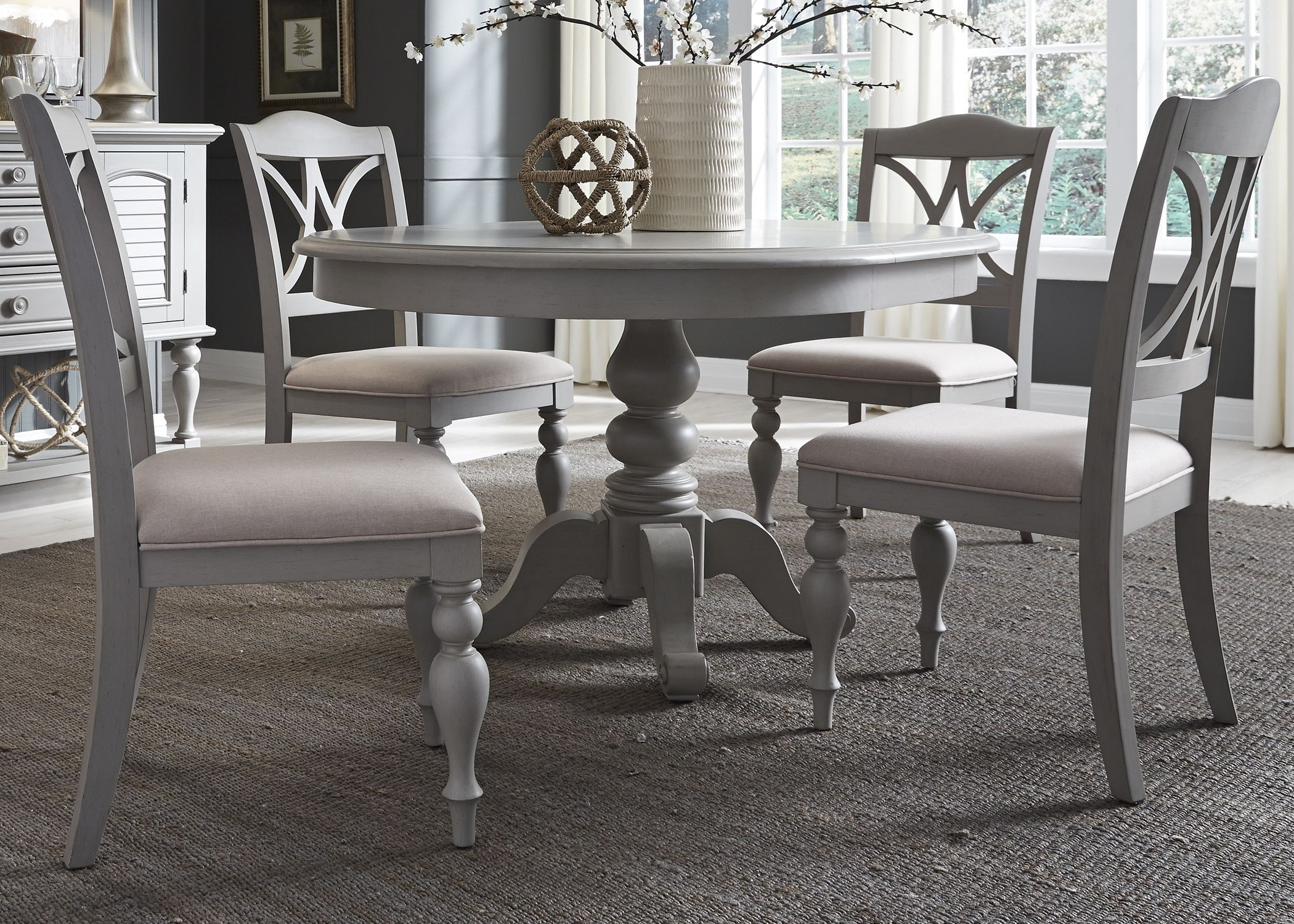 Round Extendable Dining Tables And Chairs With Most Recent Liberty Summer House Dove Grey Round Extendable Dining Table (View 16 of 25)