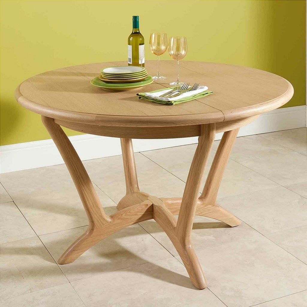 Round Extendable Dining Tables Intended For Trendy Best Cool Round Extendable Dining Table Trend (View 20 of 25)