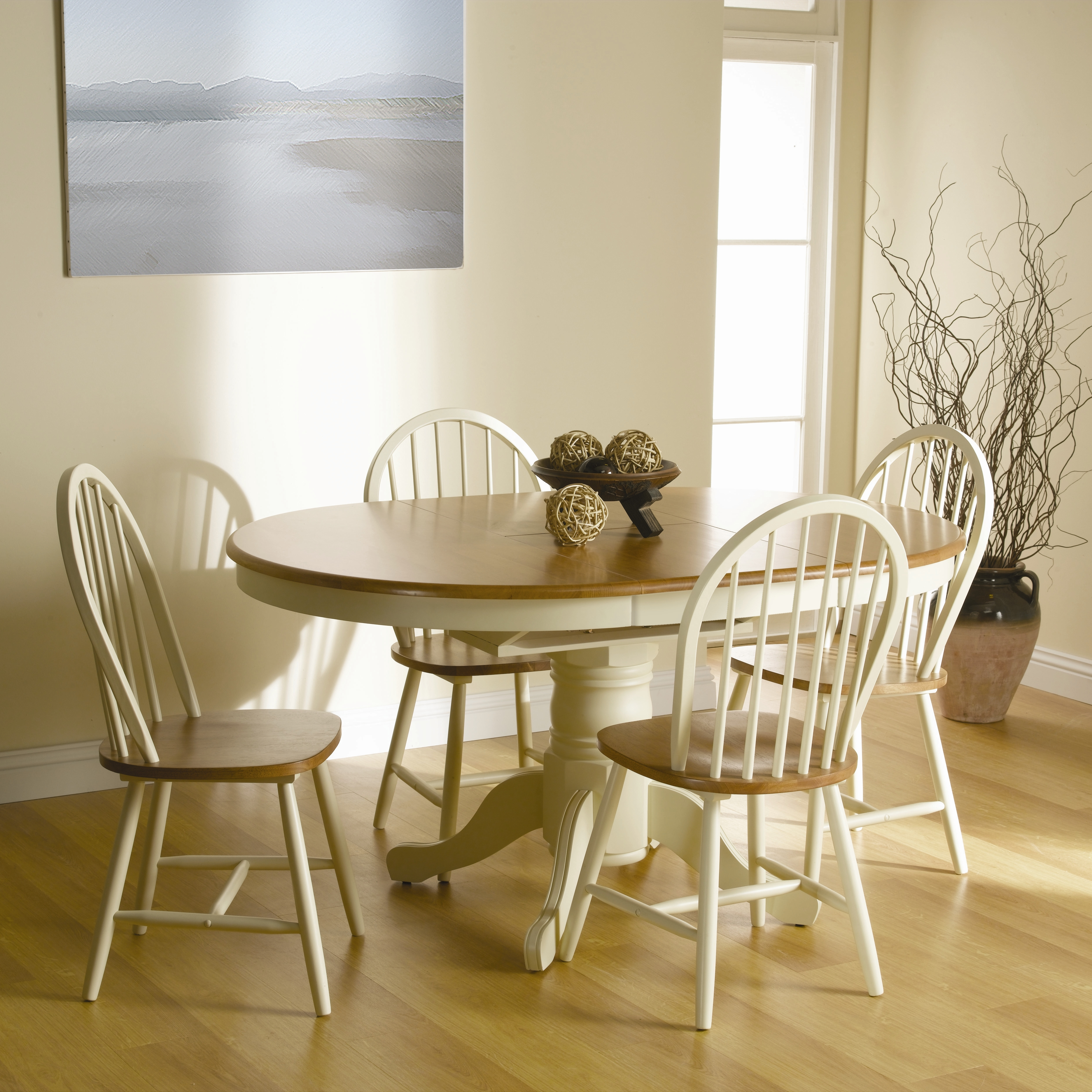 Round Extending Dining Tables Sets Pertaining To Best And Newest Extending Round Dining Table Oblong Solid Wood Oak Cream Furniture (View 18 of 25)