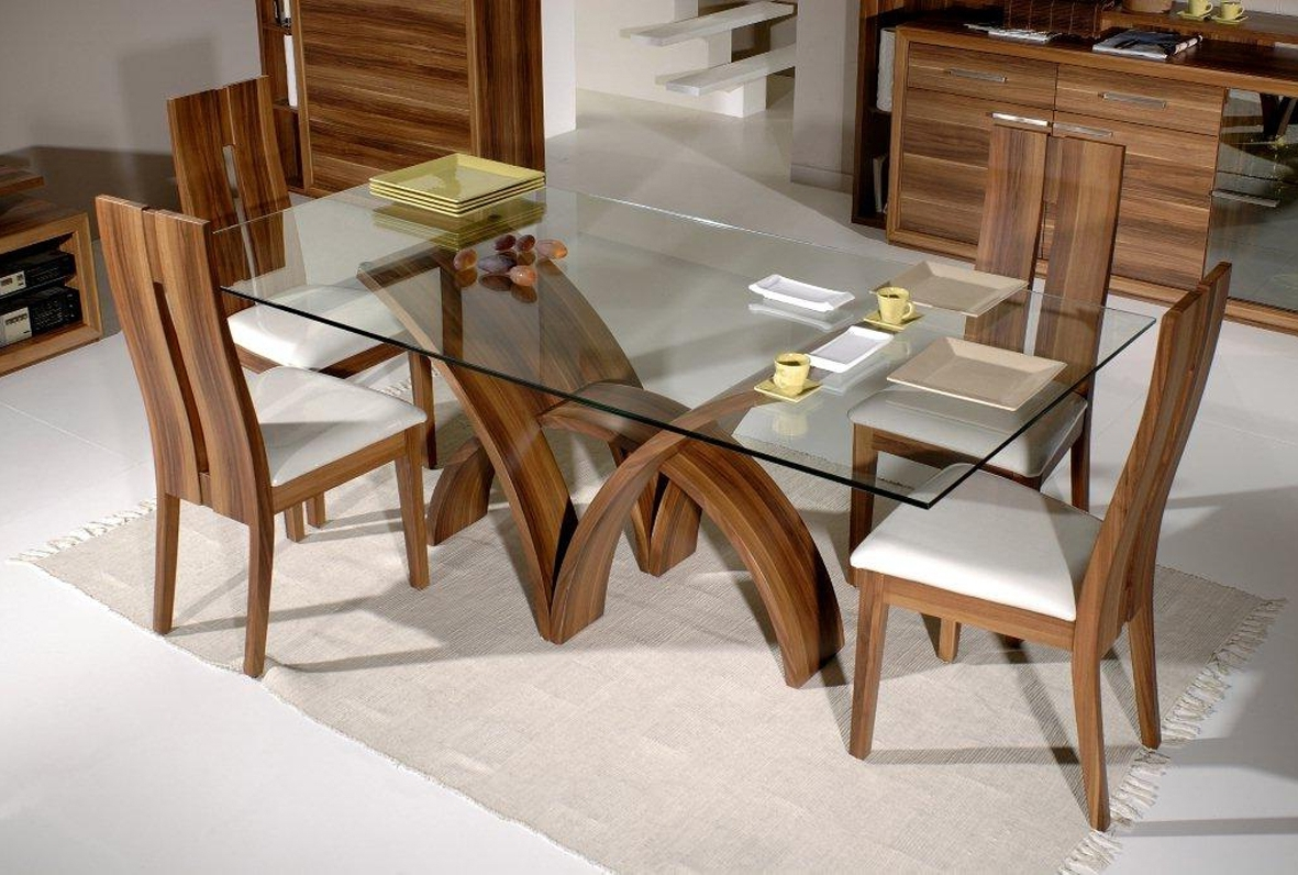 Round Glass Dining Tables With Oak Legs For Most Recently Released Dining Table Bases For Glass Tops (View 16 of 25)