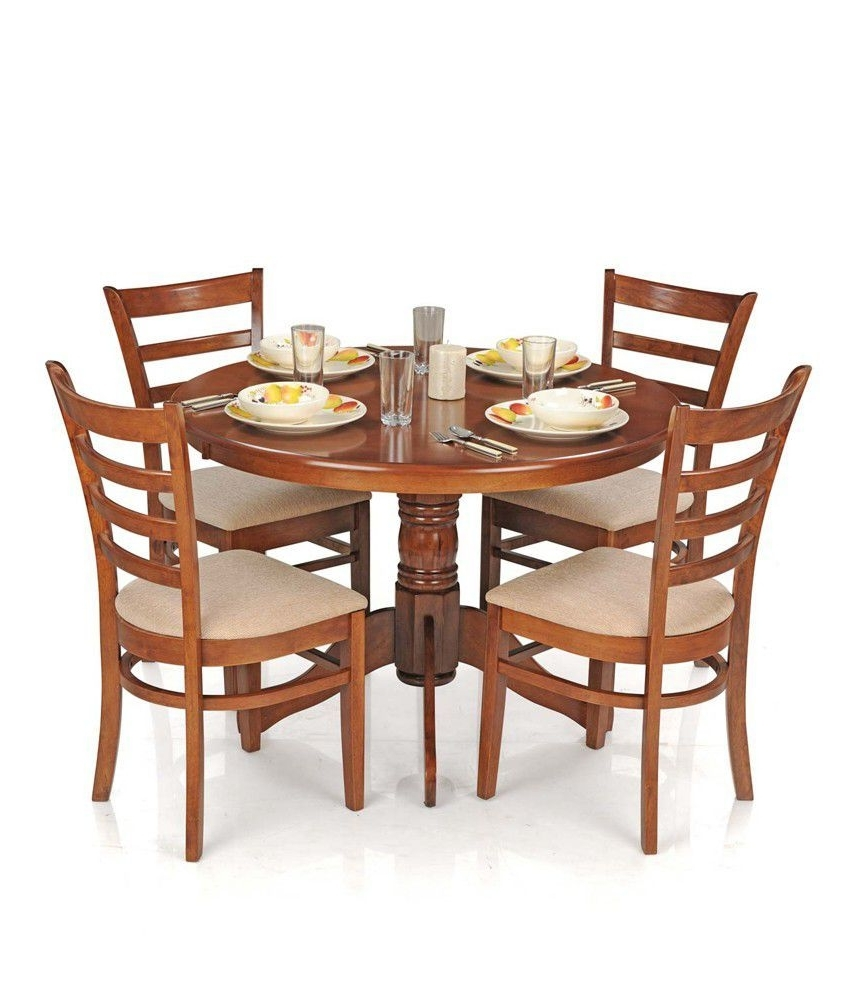 Round Oak Dining Tables And 4 Chairs With Regard To Well Known Marvelous 50 Dining Table Set With 4 Chairs Rustic Oak Dining Set (View 25 of 25)