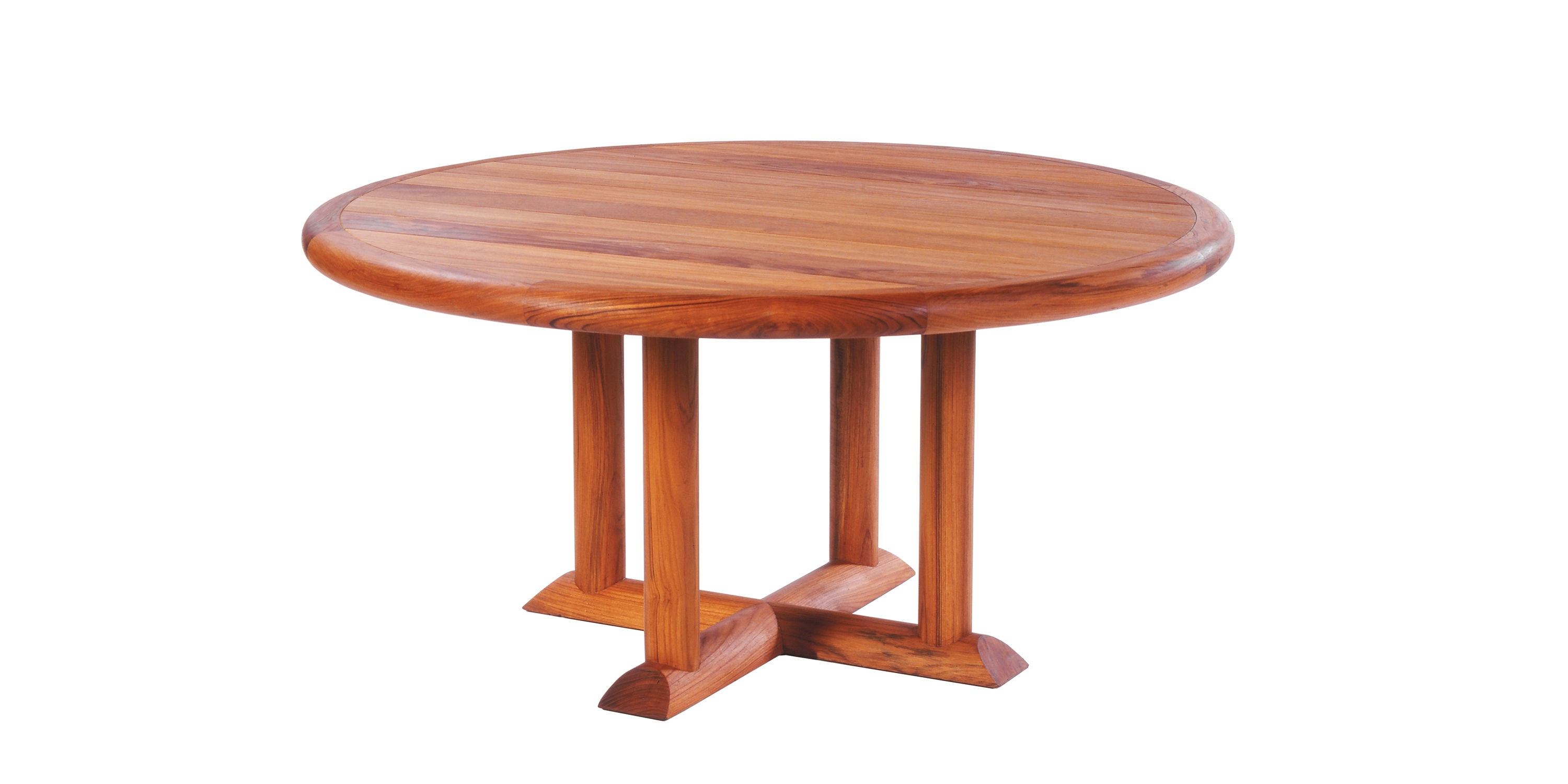 Round Teak Dining Tables Intended For Recent Douglas Teak Round Dining Table (View 17 of 25)