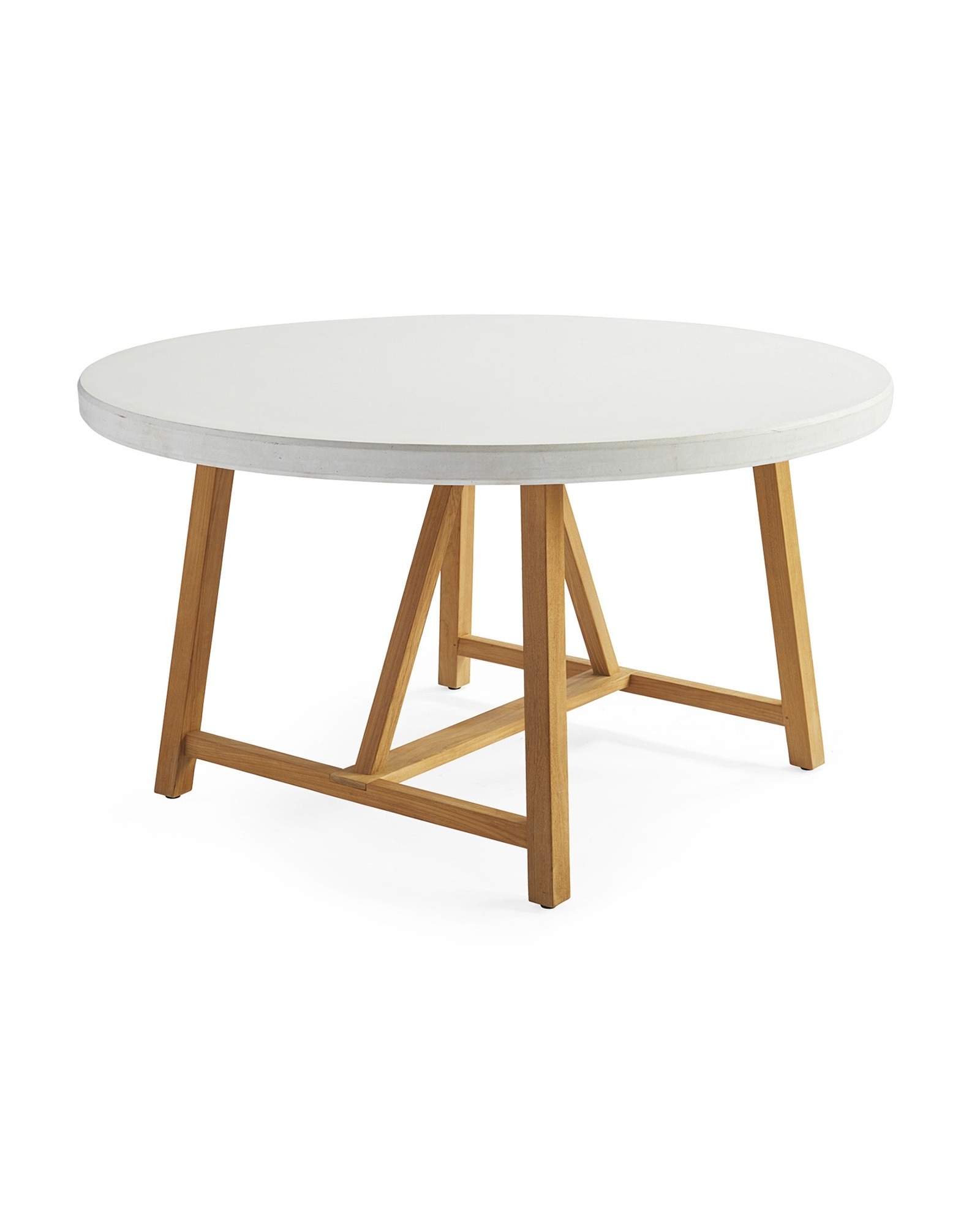 Round Teak Dining Tables Pertaining To Favorite Terrace Teak Dining Table – Serena & Lily (View 15 of 25)