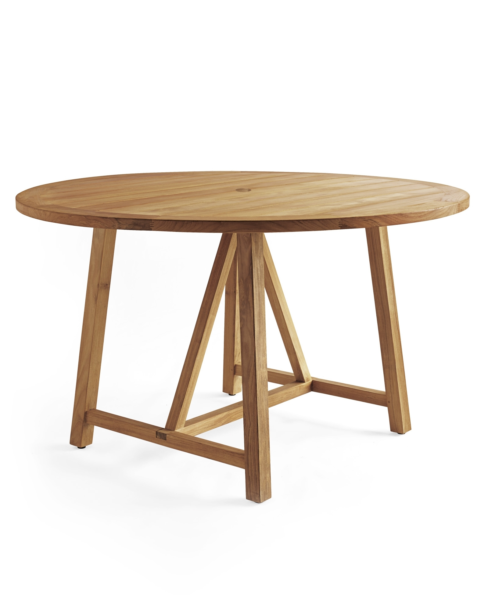 Round Teak Dining Tables Throughout Most Up To Date Crosby Teak Round Dining Table – Serena & Lily (View 18 of 25)
