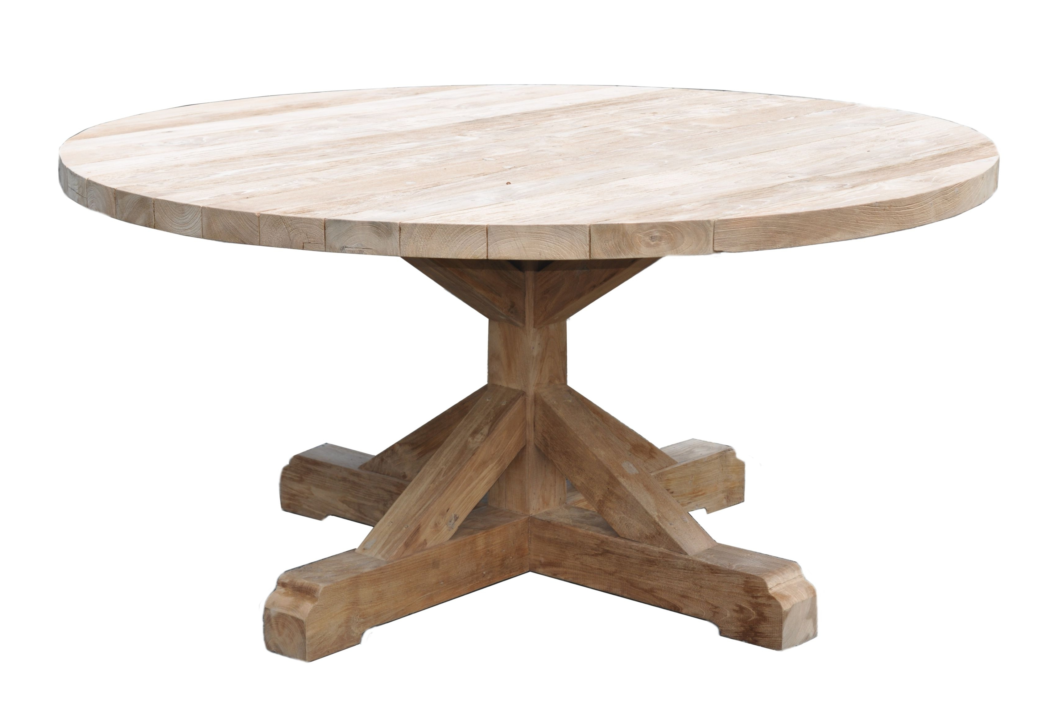 Round Teak Dining Tables With Regard To Well Liked Outdoor Round Reclaimed Teak Dining Table – Mecox Gardens (View 4 of 25)