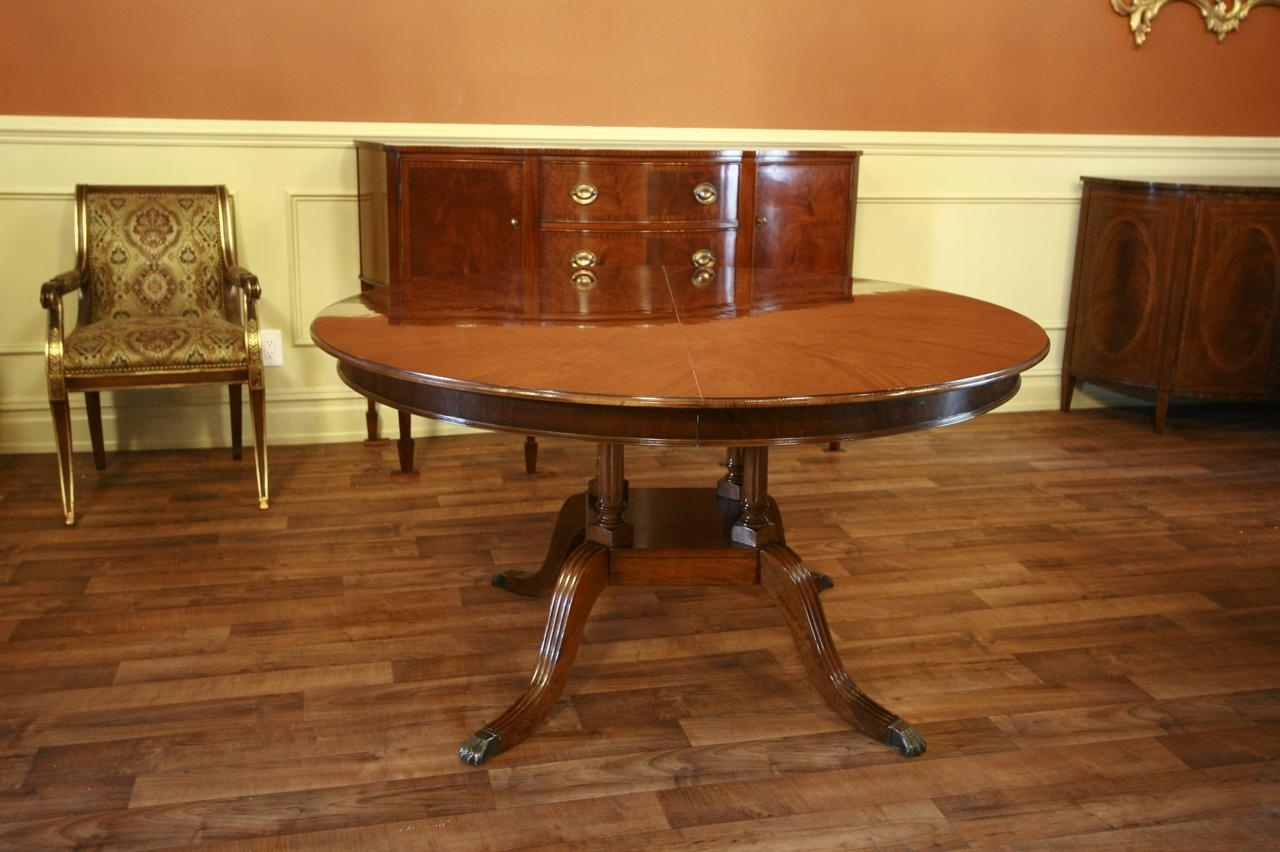 Round To Oval Mahogany Dining Table Pertaining To Best And Newest Laurent Round Dining Tables (View 23 of 25)