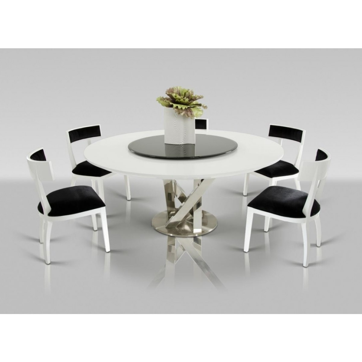 Round White Dining Tables Intended For Recent Contemporary & Luxury Furniture; Living Room, Bedroom,la Furniture (View 16 of 25)