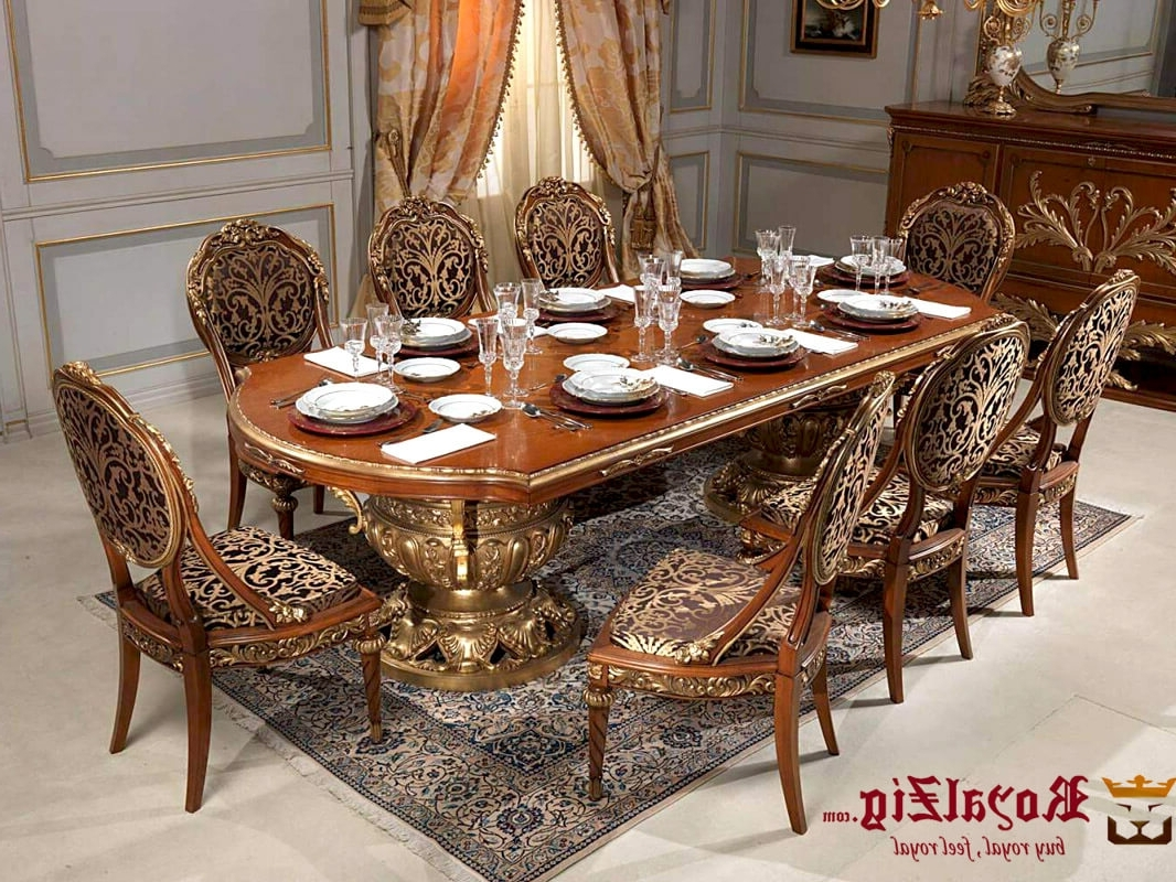 Royal Carving Dining Table Inside Latest Royal Dining Tables (View 5 of 25)