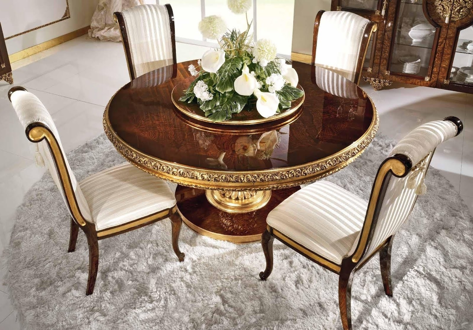 Royal Dining Tables For Well Known Antique & French Furniture : Royal Round Dining Table In Classic Style (View 18 of 25)