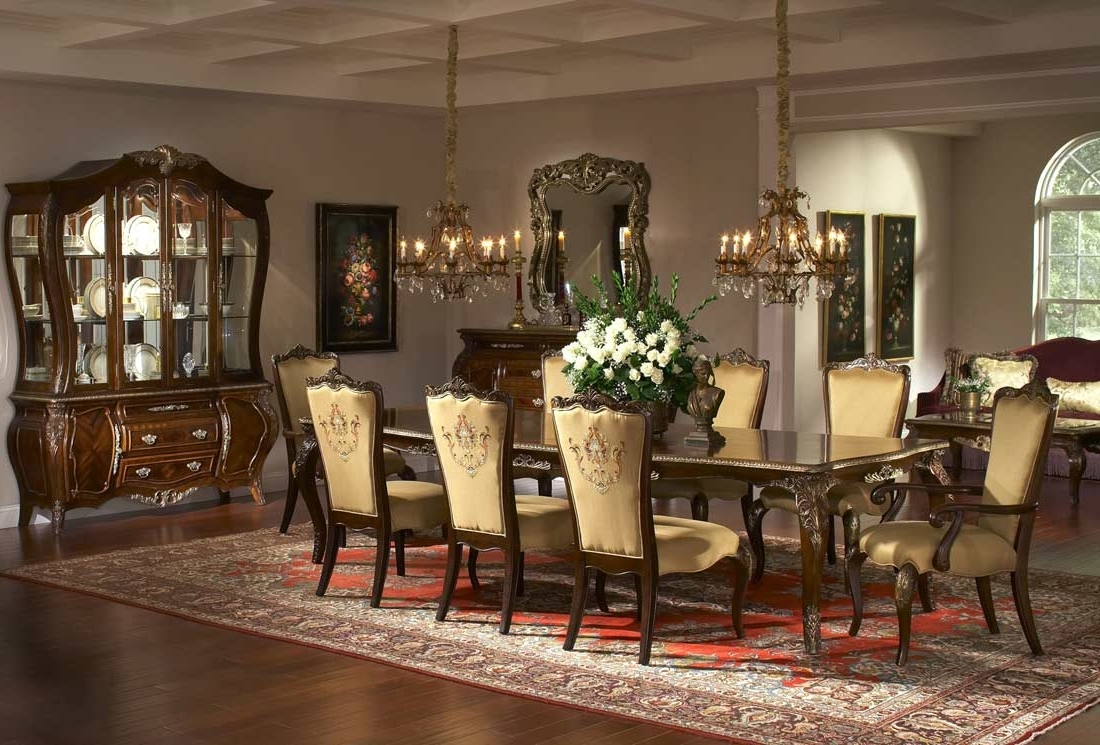 Royal Dining Tables Inside 2018 Imperial Court Rectangular Leg Dining Tableaico (View 19 of 25)