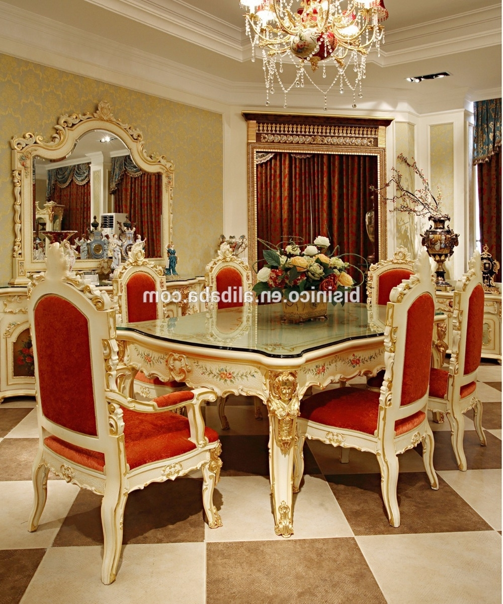 Royal Dining Tables Throughout Best And Newest Luxury French Rococo Style Angel Dining Table Set/ Antique Palace (View 21 of 25)