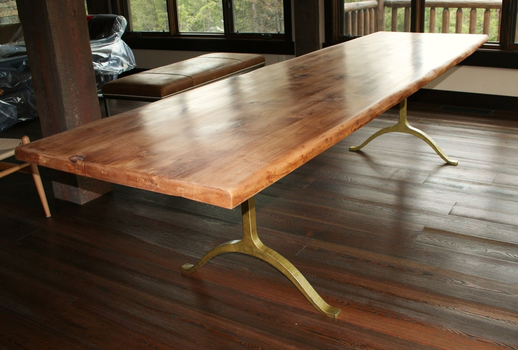 Rustic Dining Tables Pertaining To 2018 Handmade Rustic Dining Tableecho Peak Design (View 7 of 25)